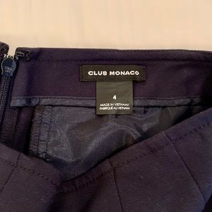 High waisted, navy slacks with zipper. Worn once.